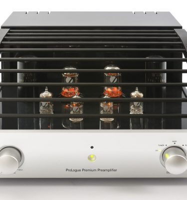 Prologue Premium Preamplifier - silver - front with cover - LR - JPG